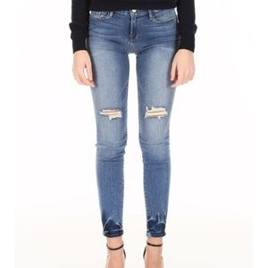 FRAME Le High Skinny Roman Jeans